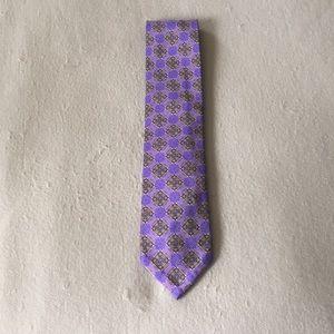 Men's seven fold silk tie
